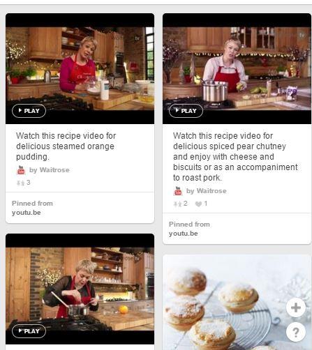 Pinterest Waitrose video