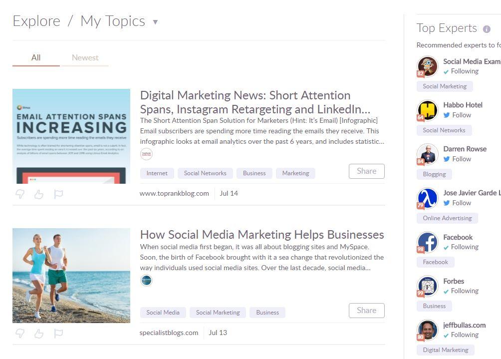 Social influencer scoring tool - following